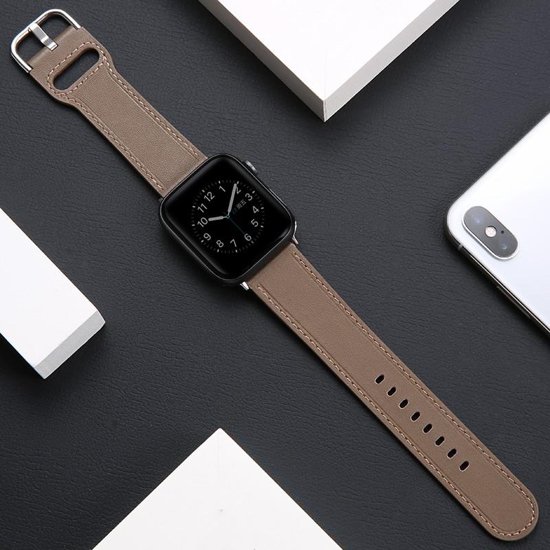 สายนาฬิกาข้อมือหนังสําหรับ Applewatch6 / Se / 4 / 3