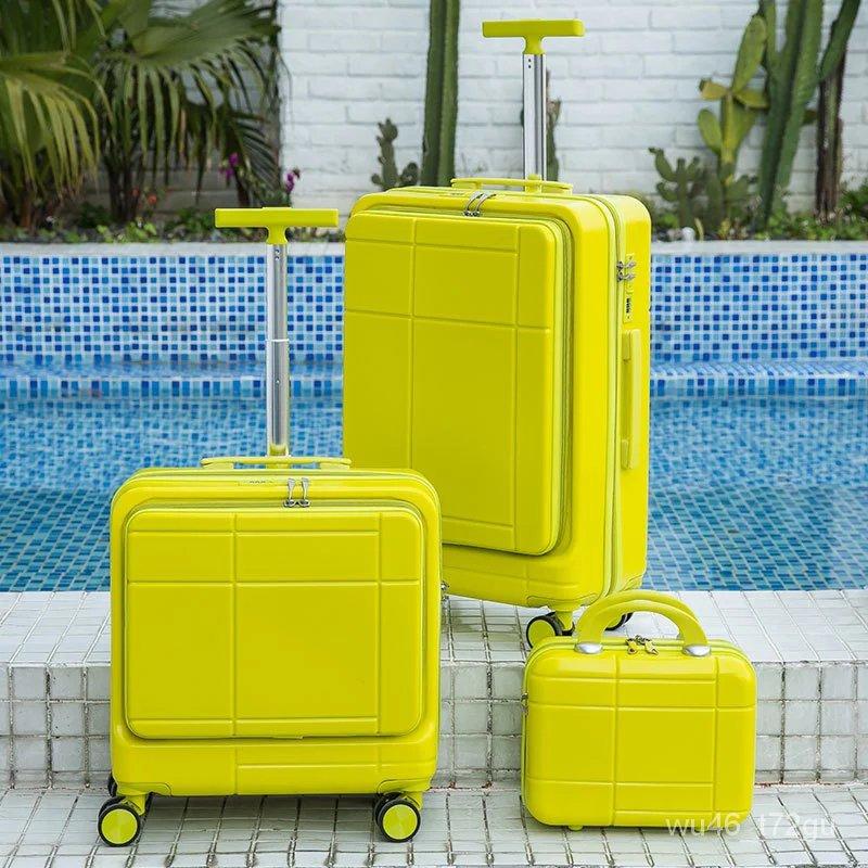 18/20/24นิ้วABS Multicolorกระเป๋าเดินทางล้อกระเป๋าเดินทางชุดกระเป๋ารถเข็นRollingกระเป๋าเดินทางกระเป๋าCabin