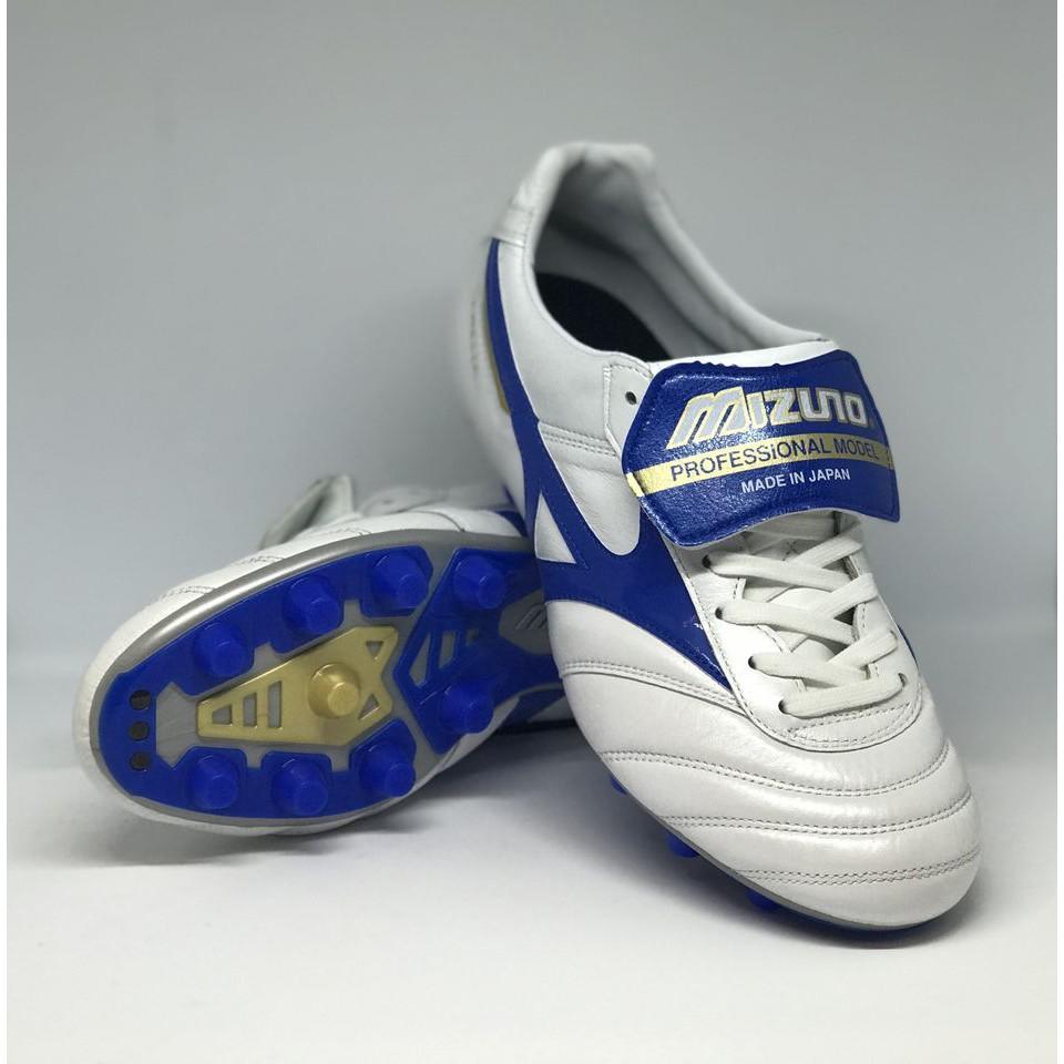 รองเท้า MIZUNO MORELIA II สีขาว-น้ำเงิน