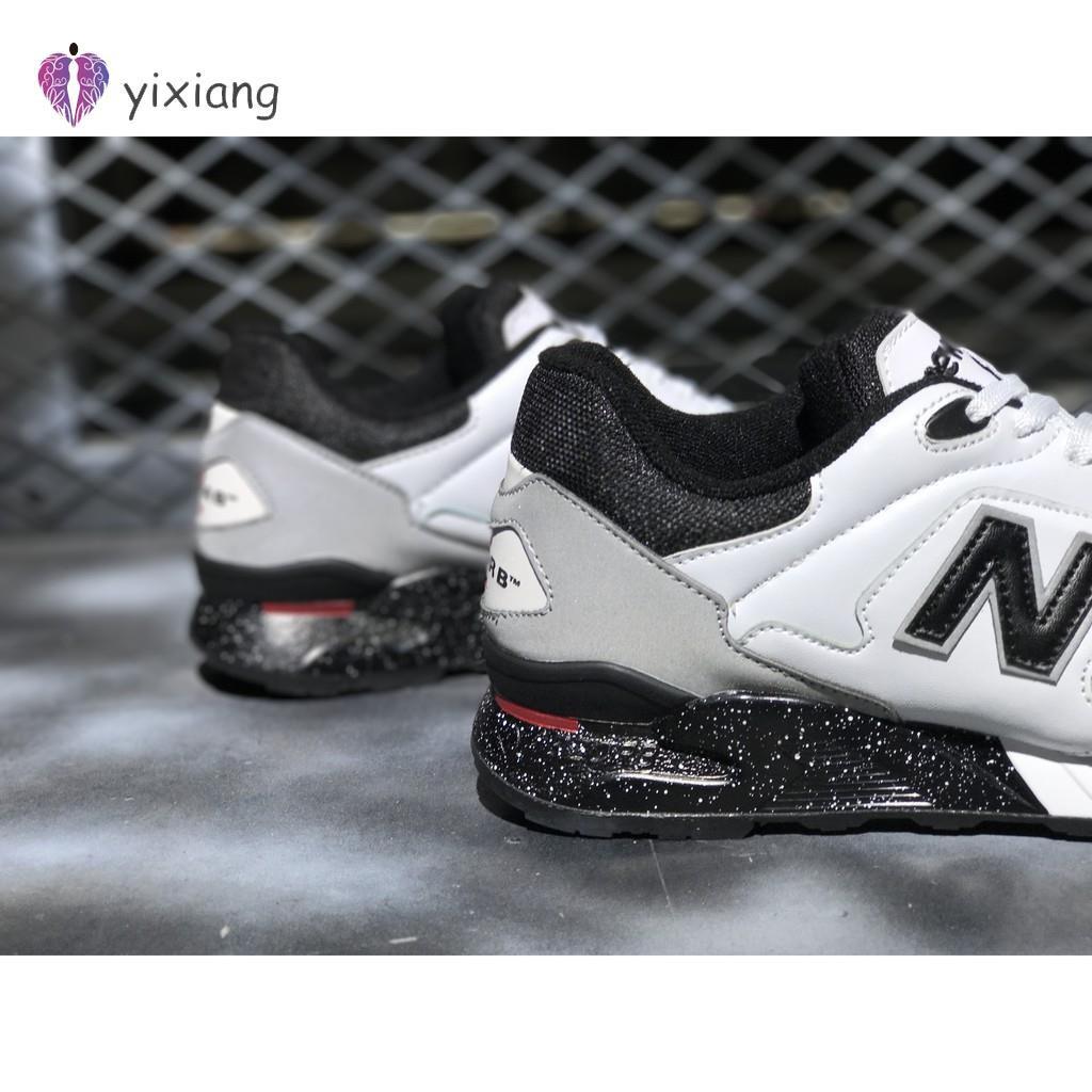 best sneakers 042c6 9943a [yixiang]New Balance 878 NB 878 รองเท้าวิ่งสีขาวสีดำสำหรับผู้ชายผู้หญิง  36-44