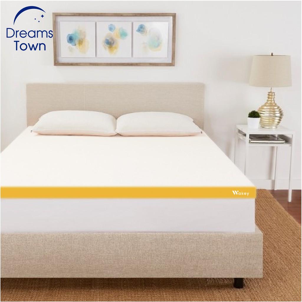 Wakey ที่รองนอน ท็อปเปอร์เมมโมรี่โฟม เพิ่มความนุ่มของที่นอนให้ดีขึ้น Topper หนา 4 ซม มี 4 ขนาด 3ฟุต 3.5ฟุต 5ฟุต 6ฟุต