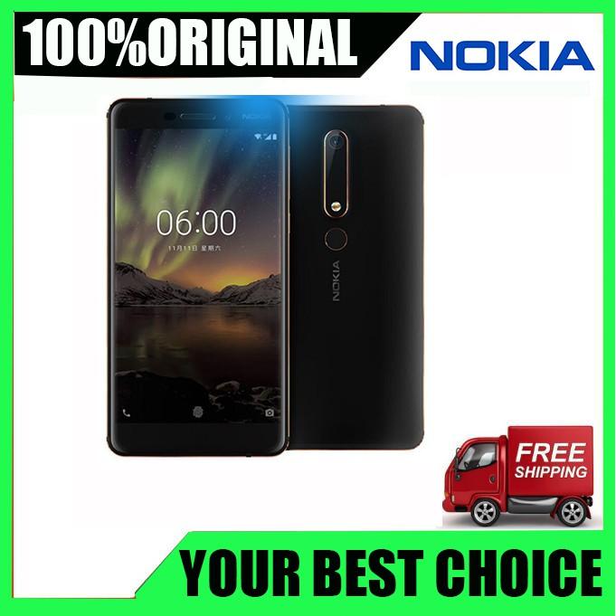สมาร์ทโฟนOriginal Nokia 6 4 G Lte 5 . 5 ' ' 16 Mp Octa Core 3gb Ram 32 Gb Rom รองเท้าผ้าใบลําลองเหมาะกับการเล่นกีฬา