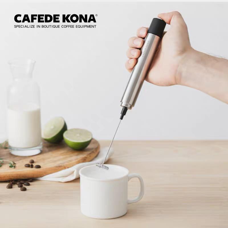 CAFEDE KONAเครื่องตีฟองนมไฟฟ้า เครื่องใช้ในครัวเรือนทำมือกาแฟ แบบพกพามือถือ คู่มือda Nai Qi
