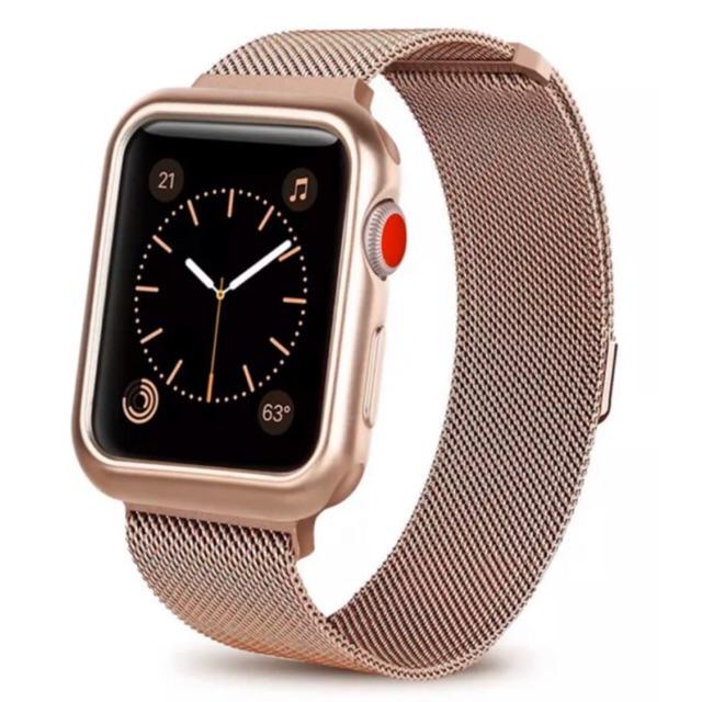 📌 พร้อมส่ง !!⌚️ สาย+เคส นาฬิกา Apple Watch Band Series 1/2/3/4/5 พร้อม เคส soft tpu !!