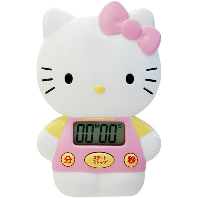 นาฬิกาจับเวลานำเข้าจากญี่ปุ่นDRETEC/Dolichoการ์ตูนแมวและสุนัขKITTYครัวจับเวลาอิเล็กทรอนิกส์นาฬิกาปลุกจับเวลา