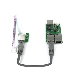 OEM factory direct mini fast 10 / 100mbs 3ort Ethernet network lan hub switch board twolayer cb 3 rj45 5V 12V head ort G