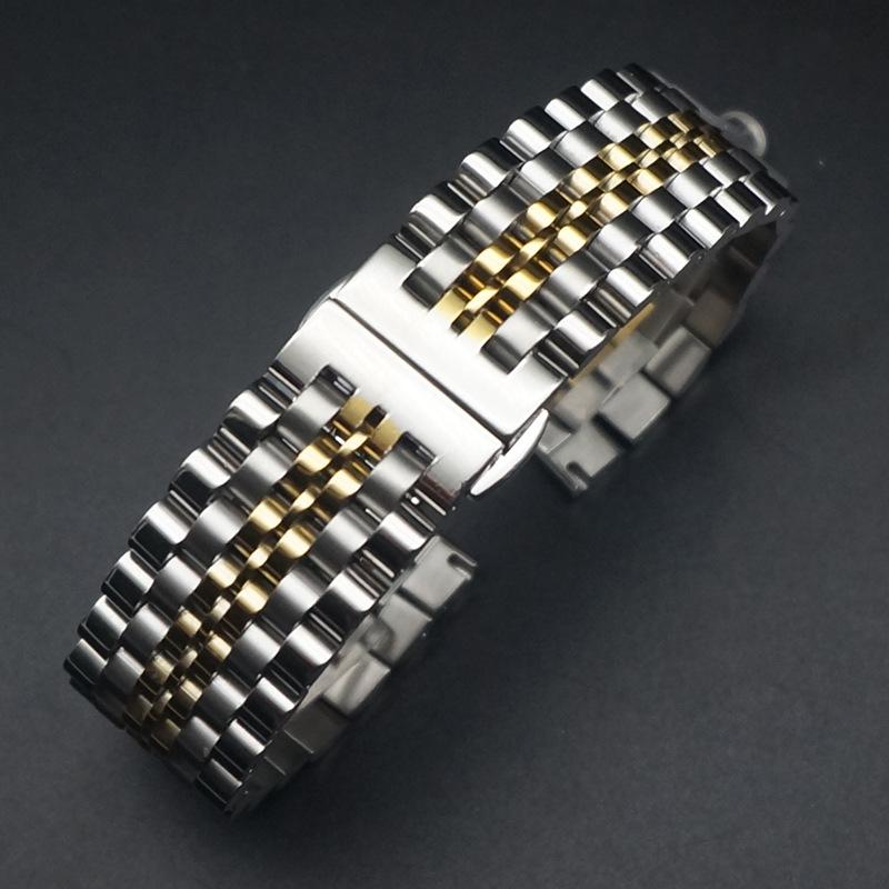 สายนาฬิกาข้อมือสแตนเลส 12 / 14 / 16 / 18 / 20 / 22 / 24 มม . สําหรับ Huawei Casio