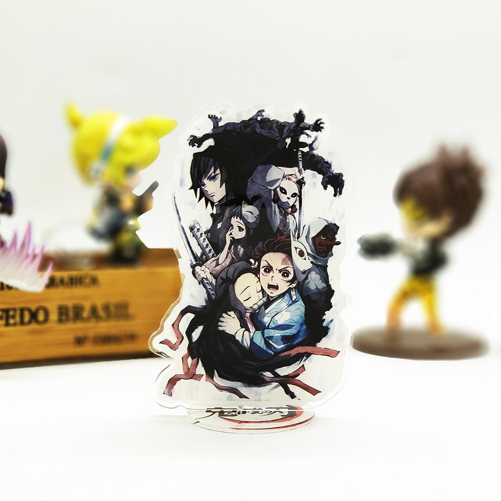 Demon Slayer Kimetsu no Yaiba Tanjirou Nezuko acrylic stand figure model doubleside plate holder cake topper anime