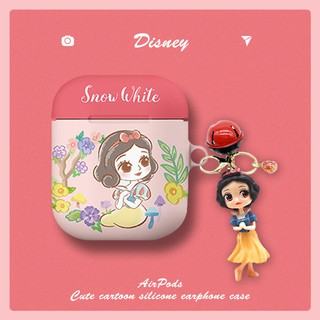 Original earphone protector✢♞Airpods matchnine applicable cases Disney cute set of three generations pro apple wireless bluetooth box to receive a mermaid airpod3 protection shell 1 Snow White 2 generation