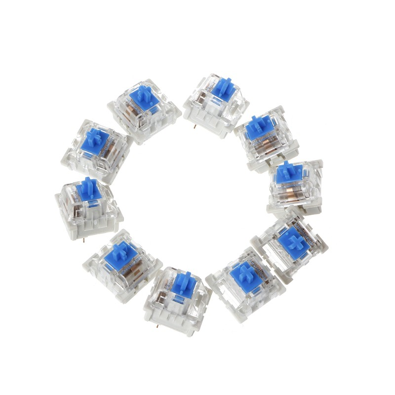 ♡♡ 10Pcs 3 Pin Mechanical Keyboard Switch Blue Replacement For Gateron Cherry MX