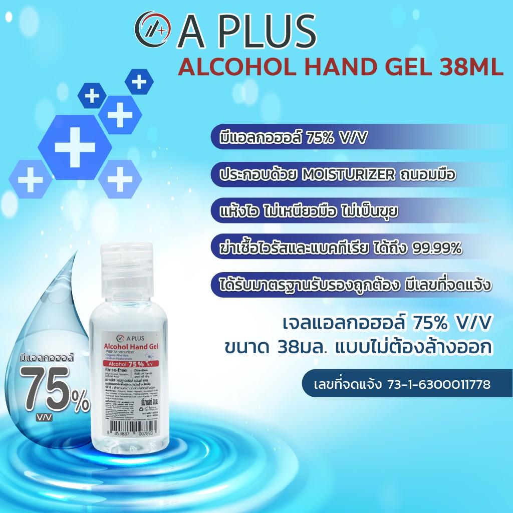 💕คุ้มและดีสุด💕(AESTHETIC PLUS ALCOHOL GEL WASHING HAND แอลกอฮอล์เจลล้างมือ ฆ่าเชื้อ 38ML