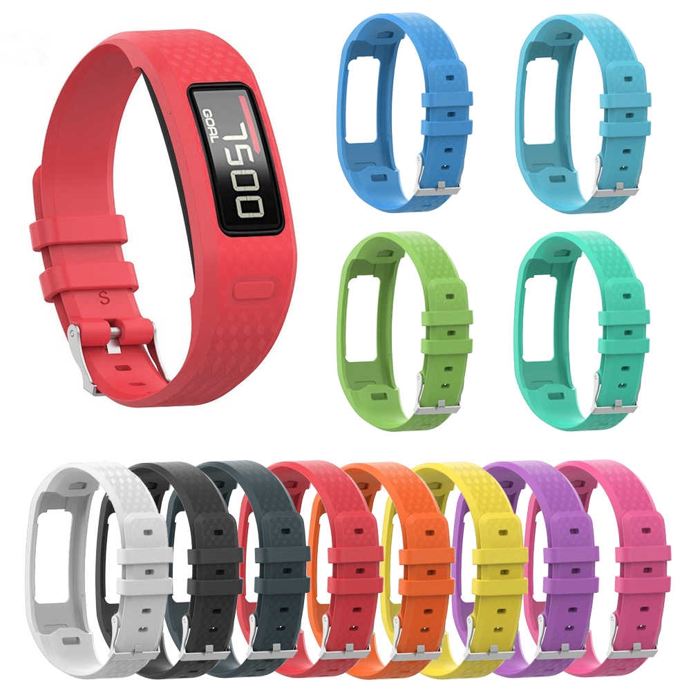2 TPU Replacement Wristband Strap Tracker Band Bracelet For Garmin Vivofit 1