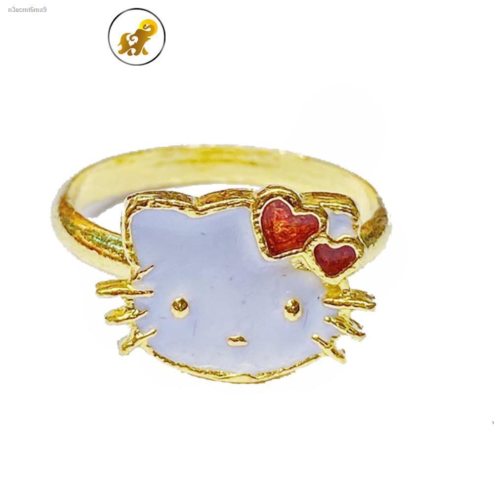 ราคาต่ำสุด□﹊PGOLD แหวนทอง 1 สลึง แมวแฟนซี 2สี หนัก 3.8 กรัม ทองคำแท้ 96.5% มีใบรับประกัน