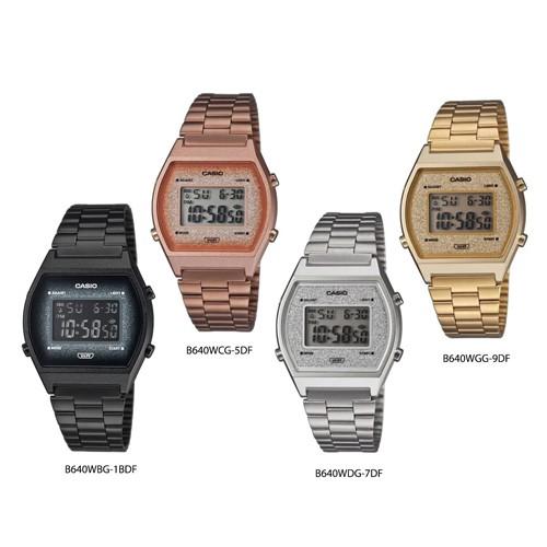 Casio Standard นาฬิกาข้อมือผู้หญิง สายสแตนเลส B640,B640WBG-1B,B640WCG-5D,B640WDG-7D,B640WGG-9D,B640WBG,B640WCG,B640WDG
