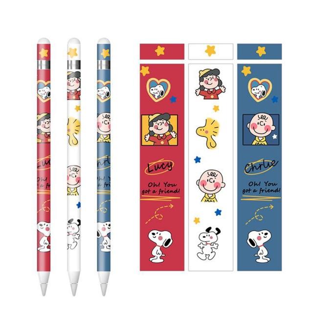 ❤️สามในหนึ่งเดียว ❤️รูปแบบใหม่ สติ๊กเกอร์ Apple Pencil Case Stickers ลายน่ารักๆ ลาย แบ๊วๆ ยูนิคอร์น หัวใจ สีชมพู