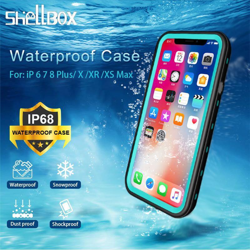 เคสกันน้ำ แท้ IPhone 11 11 pro X/XS MAX XR 5/5S/SE 6 6S+ 7/8 Plus 1000% waterproof case shockproof