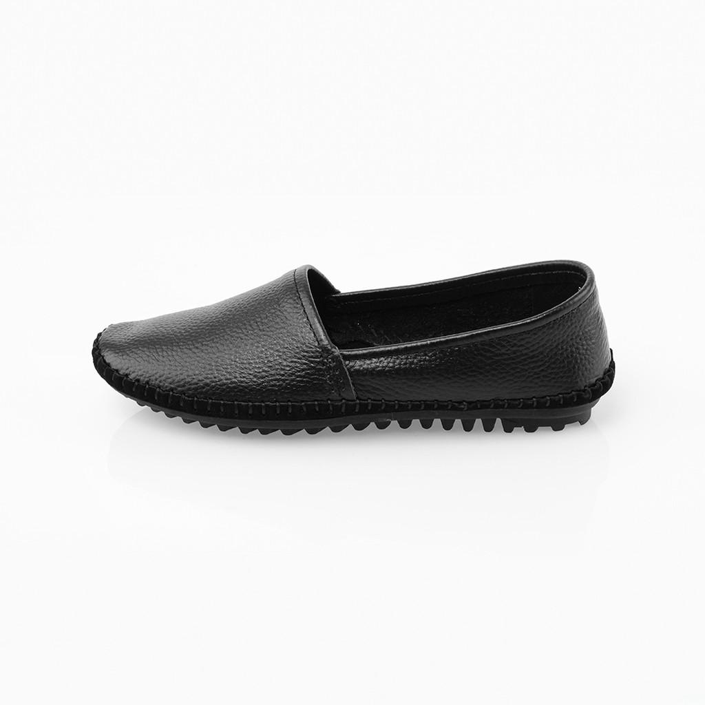 รองเท้าคัชชูหนัง หัวมน ส้นเตี้ย POLO CLUB P1789 สีดำ