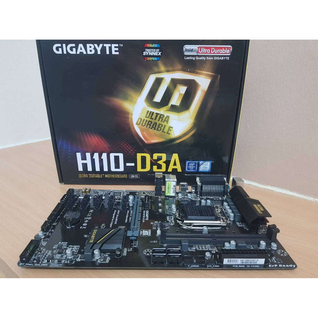 GIGABYTE GA-H110-D3A (rev. 1.0) With MINING MODE - ULTRA DURABLE