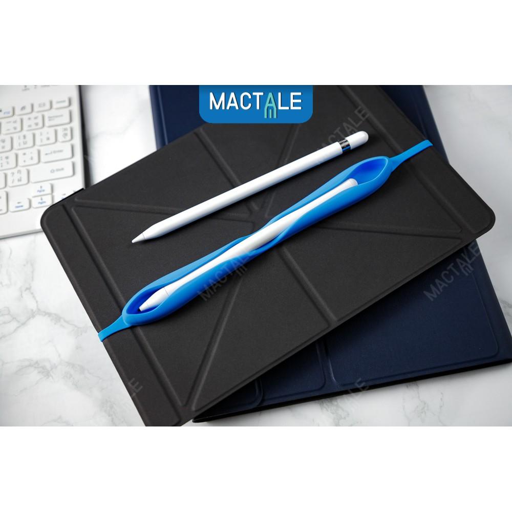 Mactale ซองปากกาซิลิโคน สายรัดเคส เก็บ Apple pencil 1, 2 case Stylus Silicone เคสปากกา ปลอกปากกา สไตลัส 7d93