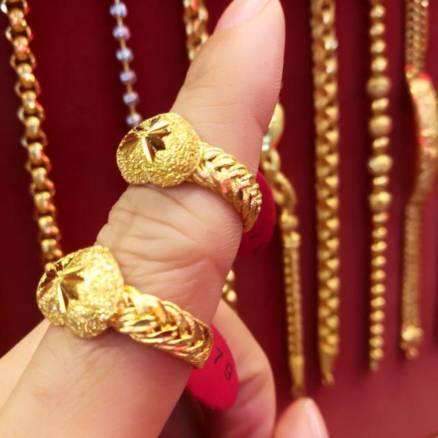  แหวนทองแท้ 96.5% น้ำหนักทอง 1 สลึง ราคา 8,150 บาท