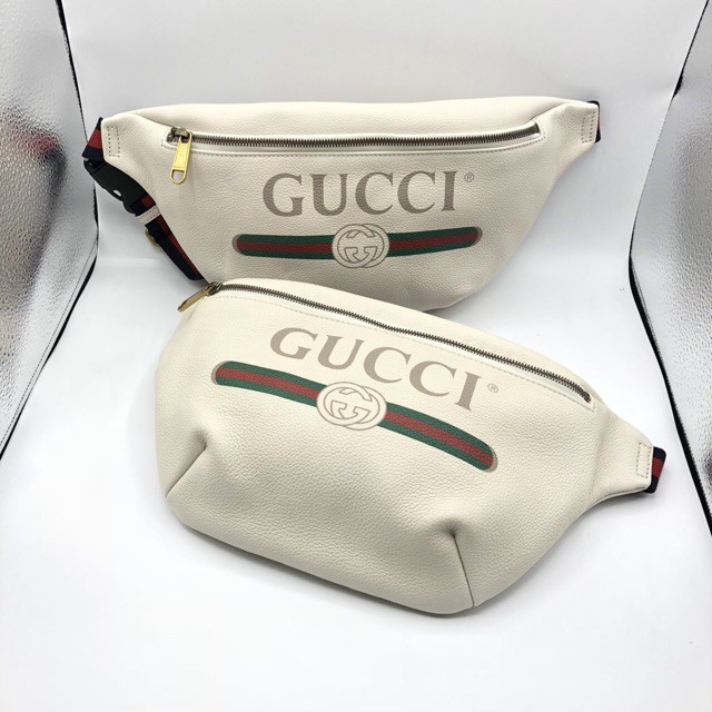 New Gucci belt bag Big Size White Colorของแท้ 100%