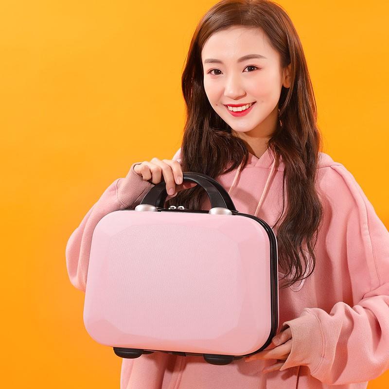 นิ้ว กระเป๋าลาก กระเป๋าเดินทางล้อคู่ แข็งแรง ยืดหยุ่นสูง น้ำหนักกล่องเครื่องสำอางพกพาเกาหลี16นิ้วมินิกระเป๋าเดินทางขนาดเ