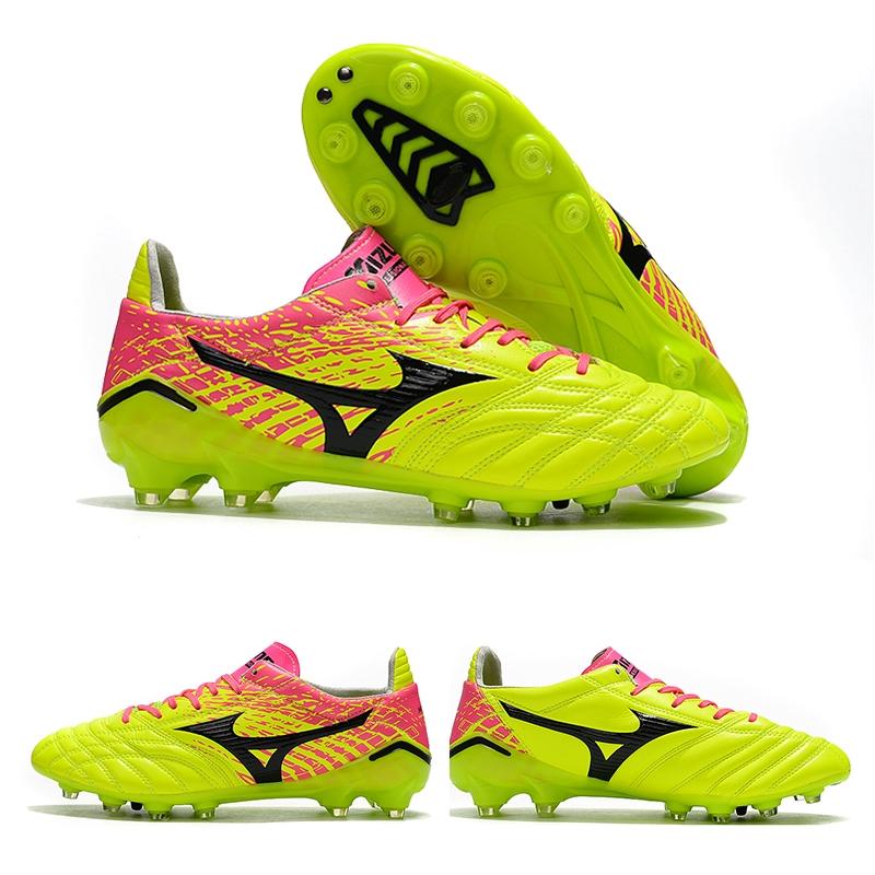 รองเท้าผู้ชาย Football Shoes Ready Stock Mizuno Morelia Neo II รองเท้าฟุตบอล FG 39-45