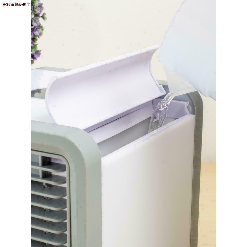 ღSunshine♧☎♗卐✙☄♦ARCTIC AIR พัดลมไอเย็นตั้งโต๊ะ พัดลมไอน้ำ พัดลมตั้งโต๊ะขนาดเล็ก เครื่องทำความเย็นมินิ แอร์พกพา Evaporati