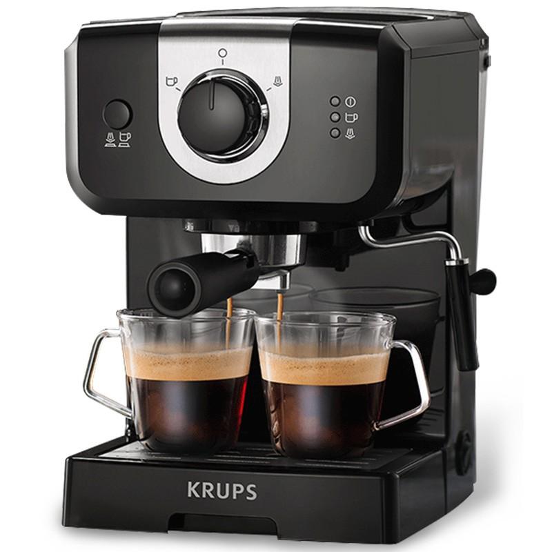 ◈ゃGerman Krups เครื่องชงกาแฟกึ่งอัตโนมัติแบบอิตาลีในครัวเรือนขนาดเล็กเครื่องทำฟองนมอเมริกันแบบบูรณาการเชิงพาณิชย์