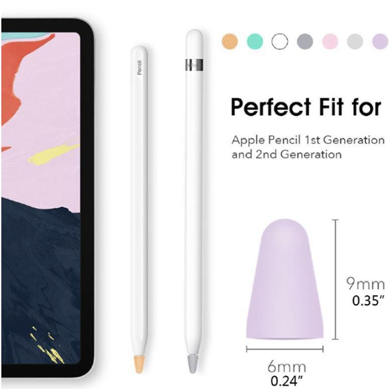 เคส 8 ชิ้นสำหรับ Apple Pencil 1 2st Pen Point Stylus แทบเล็ต Waterproof ปากกาทัชสกรีน ปากกาเขียนหน้าจอ