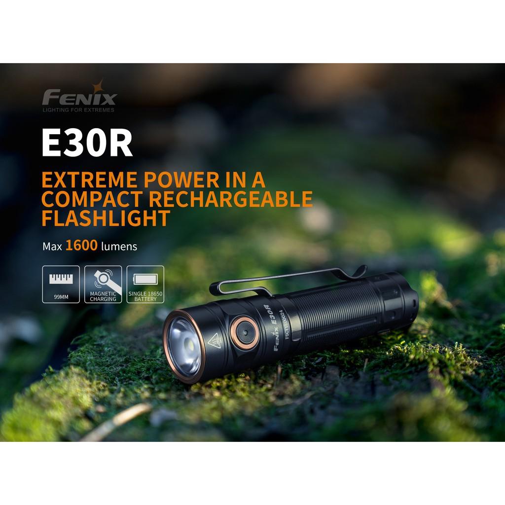 ไฟฉาย ไฟฉายแรงสูง ไฟฉายเดินป่า ไฟฉาย FENIX E30R  สินค้าตัวแทนในไทยมีประกัน  3 ปี ไฟฉายสว่าง