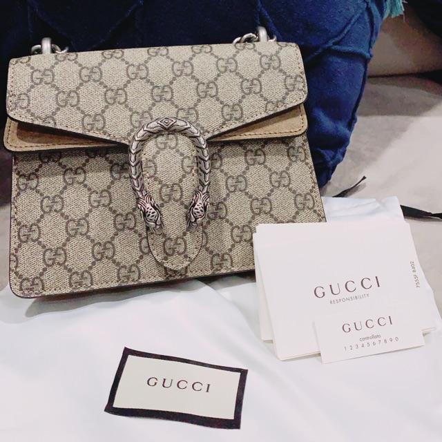 Gucci Mini Dionysus สีเบจ ของแท้100% รุ่นฮิต หายาก ‼️