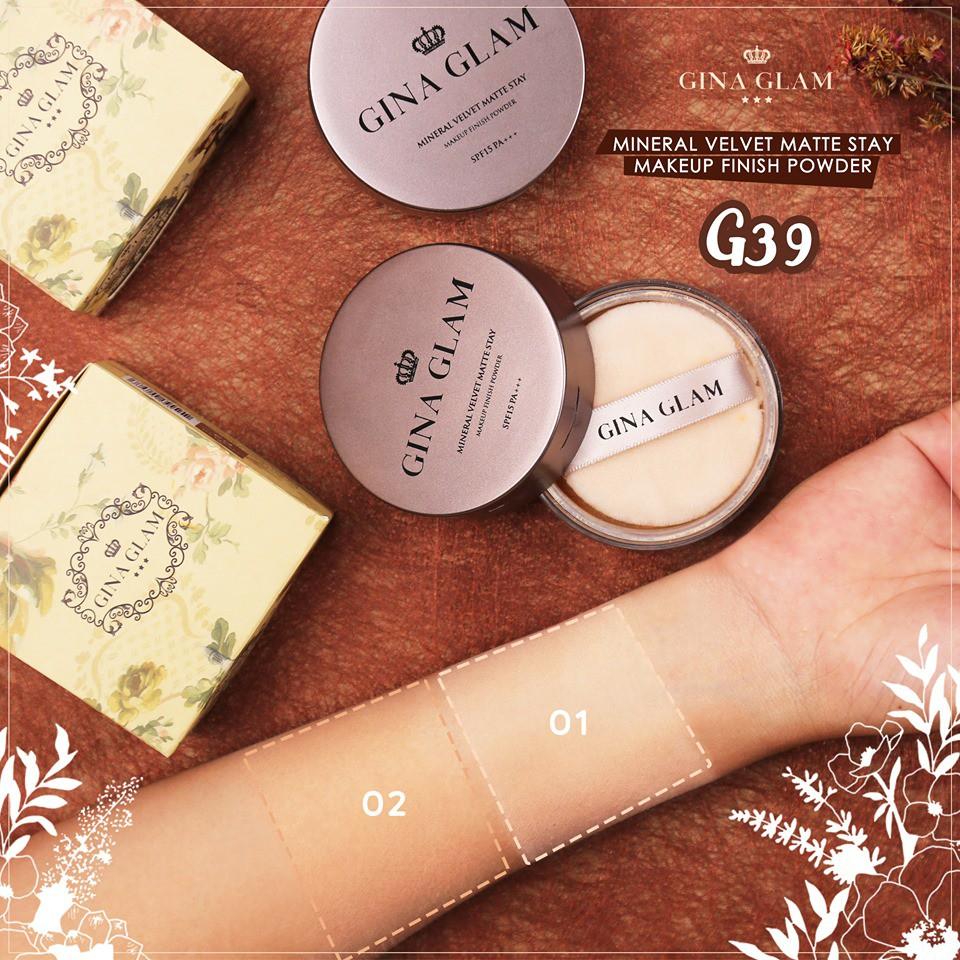 ผลการค้นหารูปภาพสำหรับ GINA GLAM Makeup Finish Powder