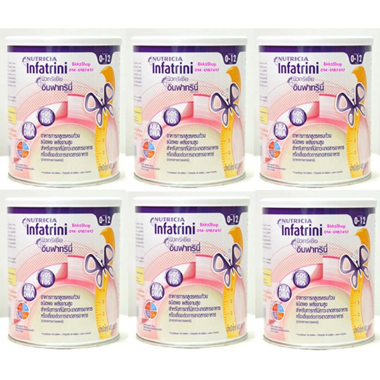 Nutricia Infatrini อินฟาทรินี่ ขนาด 400กรัม จำนวน 6 กระป๋อง