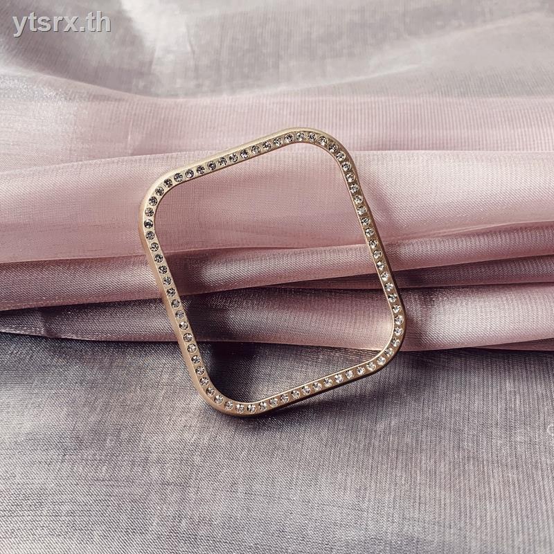 เคสยางซิลิโคนการ์ตูน Fashion tpu caseเคส for Apple AirPods Leyu is suitable for iWatch5 protective shell 6/4/3/2/1 generation Apple watch se cover metal applewatch stainless steel diamond 44/42/40/38mm female rhinestone small fragrance