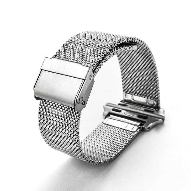 💥 สาย applewatch 🔥 เหมาะสำหรับเล่นกีฬา Apple สายนาฬิกา Apple นาฬิกาสายตาข่ายสแตนเลส อุปกรณ์เสริมสำหรับนาฬิกา
