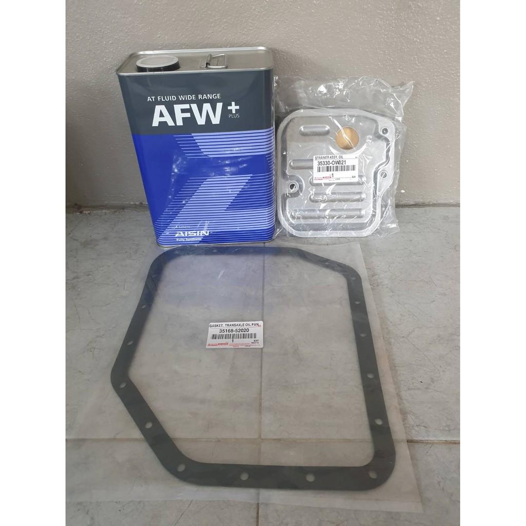 Toyota ชุดถ่ายน้ำมันเกียร์ WS AFW+ Altis อัลติสปี08-13 /เกียร์ ATF Vios ปี03-07 /Yaris ปี05-18 ATF / น้ำมันเกียร์ Vios