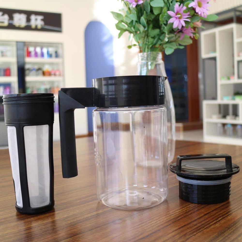 เครื่องทำกาแฟสกัดเย็น มือจับซิลิโคน ความจุ 900 มล. h1om