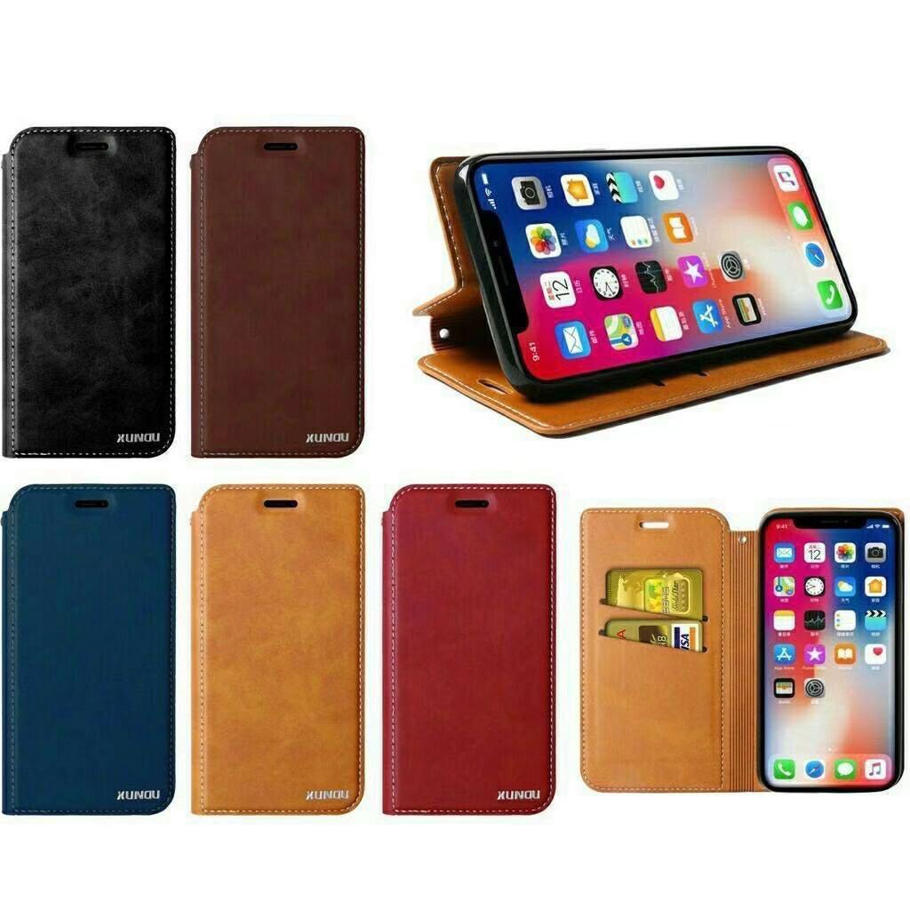 เคสไอโฟน case plus เคสฝาพับหนัง XUNDU SAMSUNG A6plus A8plus A9pro C9pro J8 2018 Note2 Note3 Note10pro Note10plus