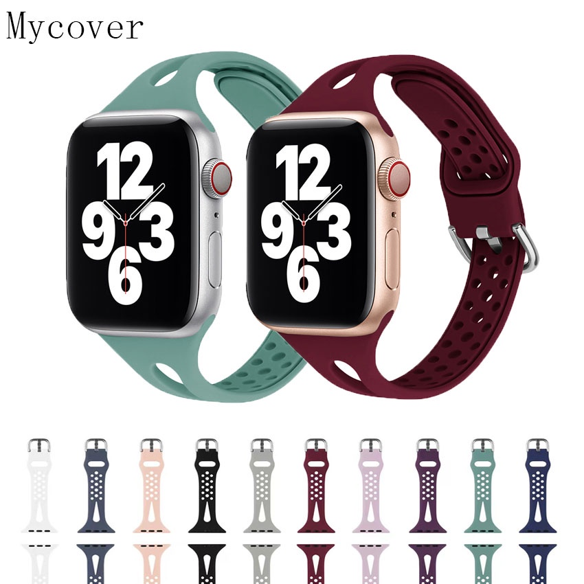 Colorful Water droplets Sport Soft Silicone Watch Strap for Apple Watch Band 42mm 38mm 40mm 42mm iwatch series 6 5 4 3 2 1 Bracelet Replacement Band Bands