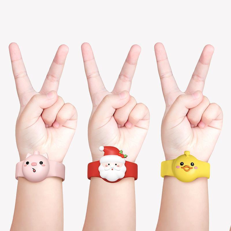 ใส่เจลล้างมือนาฬิกา สร้อยข้อมือเจลล้างมือลายการ์ตูนสำหรับเด็ก พกพาสะดวก ซิลิโคนน้ำหนักเบา silicone