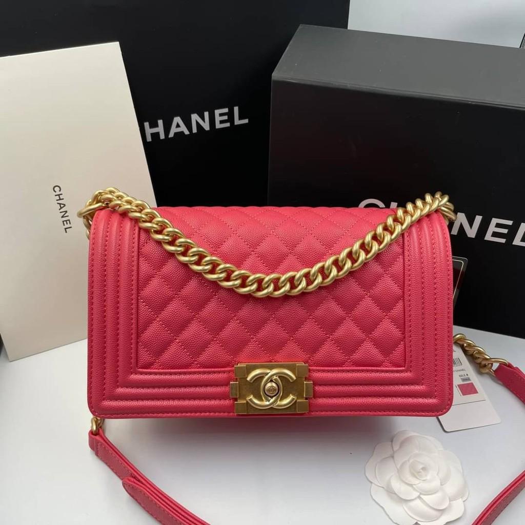 "Chanel Boy 10"" #softcaviar เกรด vip Size 25cm  อุปกรณ์ full box set"