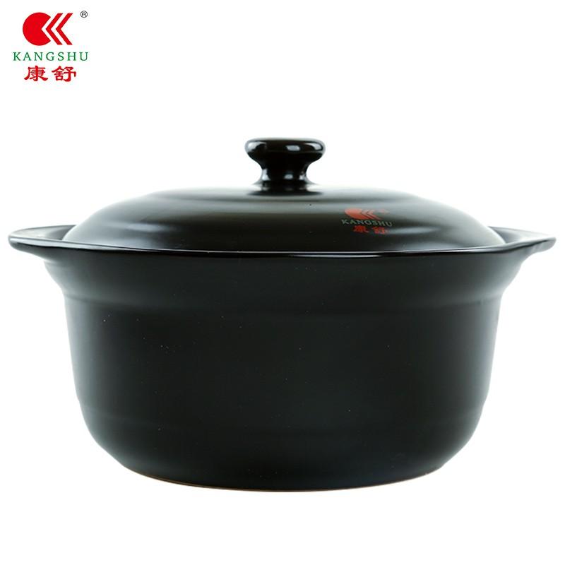 Kangshu ปากกว้างหม้อซุปเซรามิกหม้อในครัวเรือนเปิดเปลวไฟก๊าซเผาโดยตรงทนอุณหภูมิสูงเครื่องปั้นดินเผาโจ๊กดินหม้อดินเผา