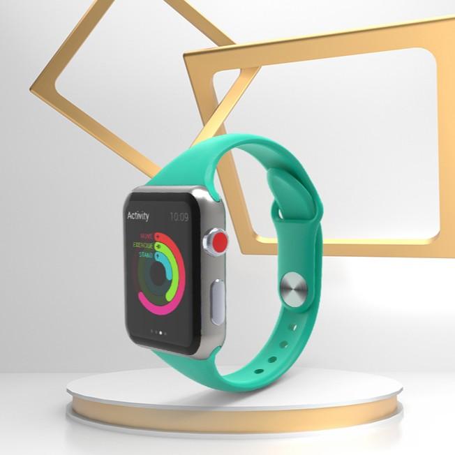 iWatch Band Soft ซิลิโคนกีฬาสำหรับ Apple Watch Band 6 SE 5 4 3 2 1 40 มม. 44 มม. 38 มม. 42 มม. ยางสายรัด Apple Watch Series 5/4