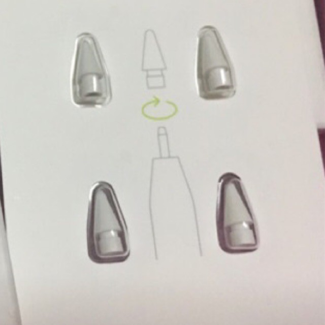 ⊙♛¤แท้/พร้อมส่ง (หัวดินสอ ipad) Apple Pencil Tip (ใช้ได้ทั้งApple pencil 1, 2)