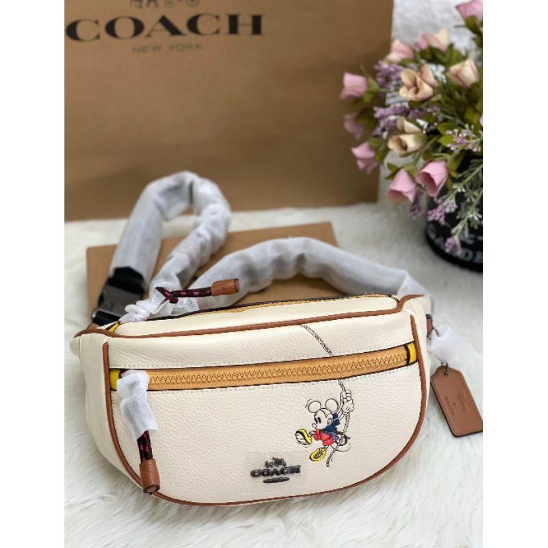 กระเป๋าคาดอก🦄Coach New 3747 Limited Disney Co-branded Women's Waist Bag