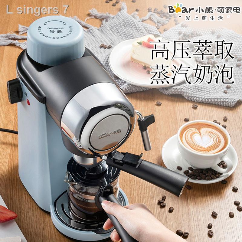 🔥สินค้าคุณภาพราคาถูก🔥Bear / หมีน้อย KFJ-A02N1 เครื่องชงกาแฟที่บ้านทำอาหารอิตาเลี่ยนโฟมนมมินิไอน้ำแบบกึ่งอัตโนมัติ