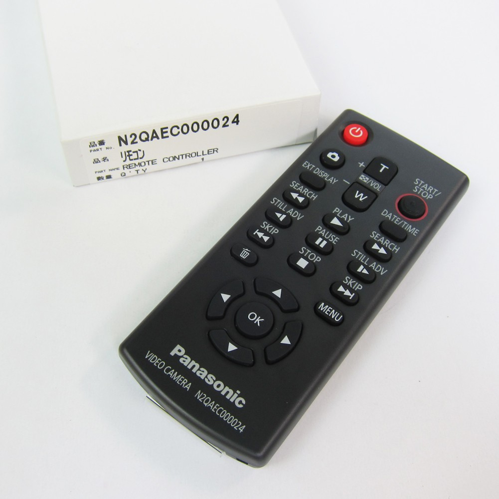 รีโมทสำหรับกล้องถ่ายวีดีโอ Panasonic รุ่น HDC-Z10000 TMT750 TM900 TM700 TM600 TM350 อะไหล่ N2QAEC000024 Remote Control