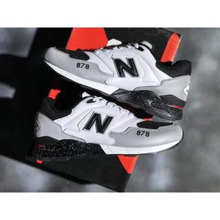 big sale 9bffb ebbc3 SHIPPINGNew Balance 878 NB 878 รองเท้าวิ่งสีขาวสีดำสำหรับผู้ชายผู้หญิง 36-44