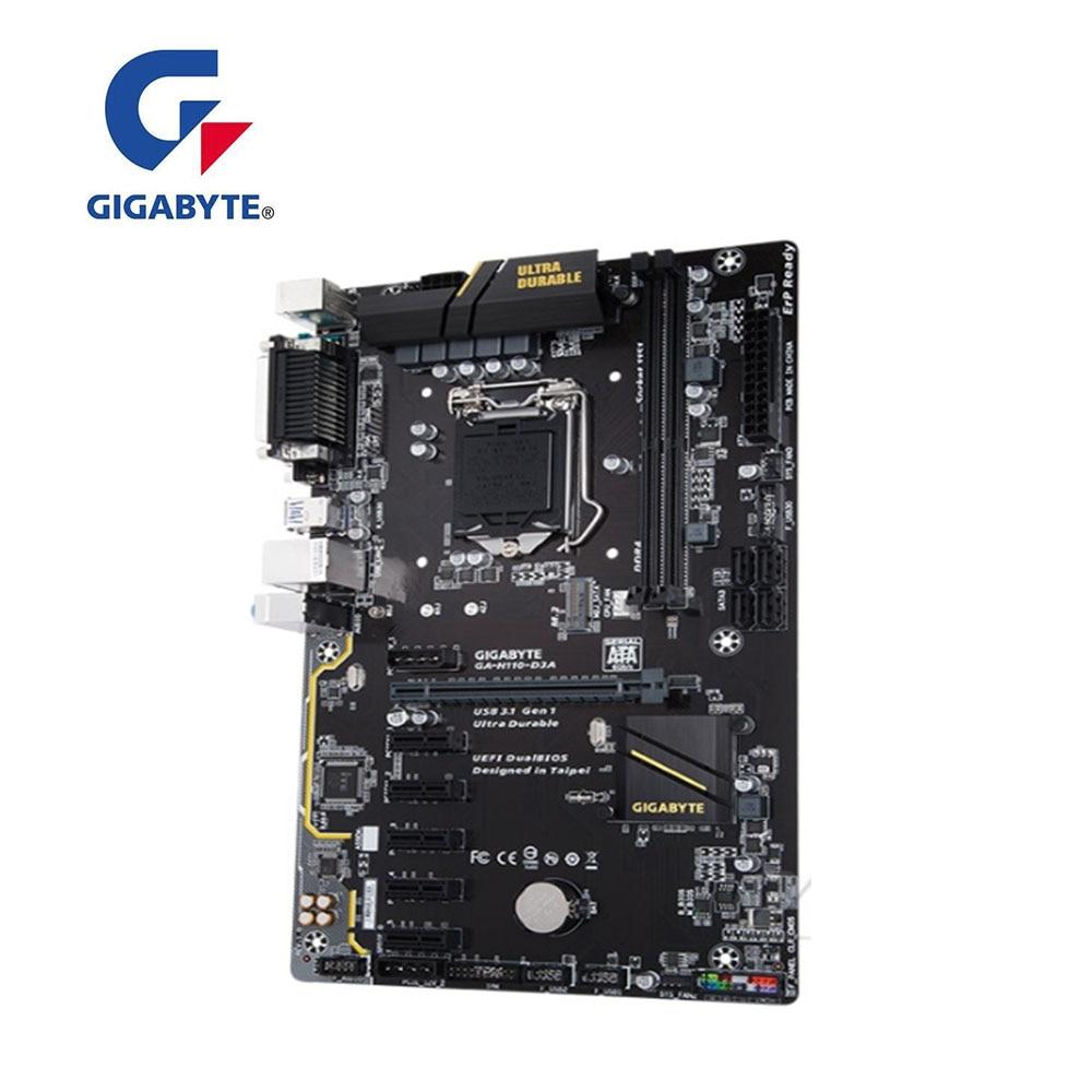 For GIGABYTE  H110-D3A  Desktop GA-H110-D3A Motherboard H110M H110 Socket LGA 1151 DDR4 PCI-E 3.0 USB 3.1 Used Mainboard